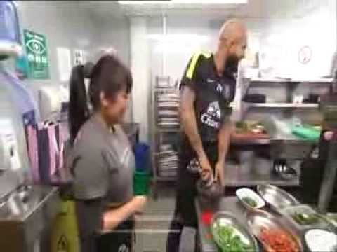 Everton FC v Rosa's London Ltd. - Tim Howard cooking class