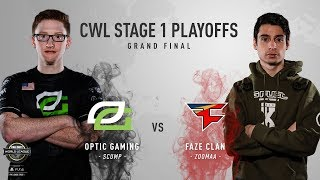 OpTic Gaming vs. FaZe Clan   Grand Finals   CWL Pro League Stage 1 Playoffs 2018