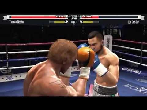 Invicto por 2 peleas y media jajaja Knockiando Boxes 2014 REal Boxing Gameplay