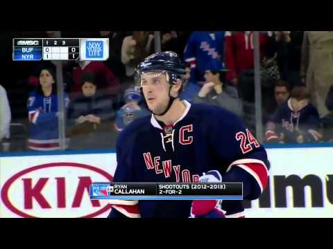 Buffalo Sabres @ New York Rangers Shootout 3/3/13
