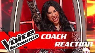 Titi DJ Tak Kuasa Nahan Ekspresi Krn Kontestan Ini | COACH REACTION | The Voice Indonesia GTV 2018