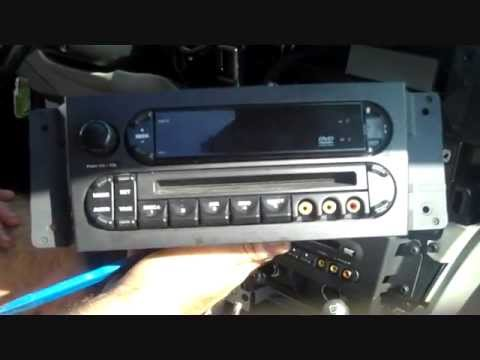 Chrysler Pacifica Car Stereo and DVD Removal 2004 2008
