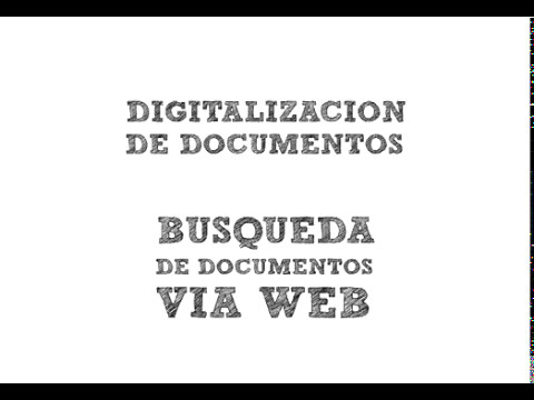 Digitalizacion y gestion de documentos
