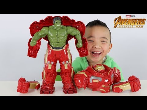 HULK OUT Hulkbuster Avengers Infinity War Toys Unboxing Fun With Ckn