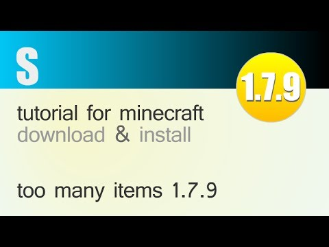 TOO MANY ITEMS MOD 1.7.9 minecraft - how to download and install [TMI] (with opt