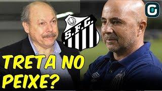 """""""Eu exijo que ele seja o MELHOR PRESIDENTE do Santos"""", diz Sampaoli (12/07/19)"""