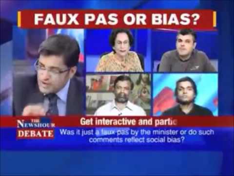 Timesnow Debate on Homosexuality & Ghulam Nabi Azad's Remarks