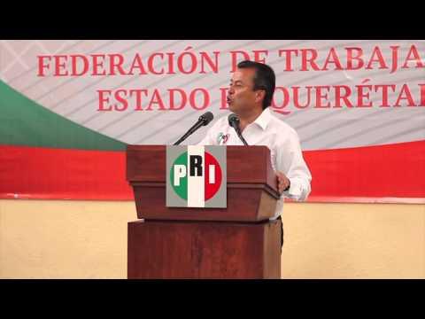 Encuentro con sector obrero de Querétaro. Miembros de la CTM