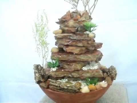 Fuente de agua piedra natural armon a estilo youtube - Fuentes de piedra de pared ...