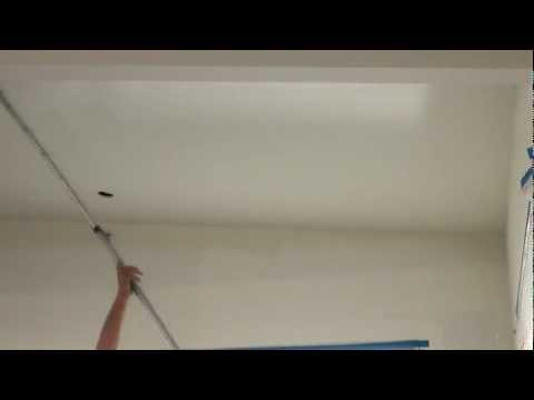 how to spray paint a ceiling using an airless sprayer then back. Black Bedroom Furniture Sets. Home Design Ideas