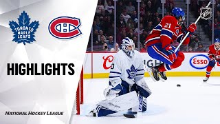 NHL Highlights | Maple Leafs @ Canadiens 10/26/19