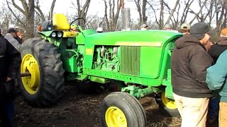 1971 John Deere 4020 with 9,950 hours, diesel, PS, sold on Marshall, MN Farm Auction