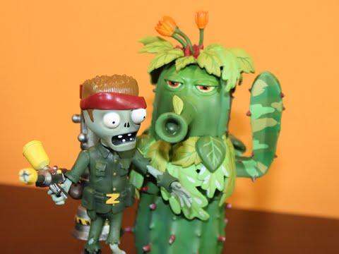 PLANTS VS. ZOMBIES GARDEN WARFARE - FOOT SOLDIER & CAMO CACTUS FIGURES!