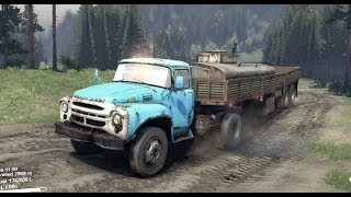 SPINTIRES 2014 Full Version Preview -  Type B-130 Truck + Utility Trailer