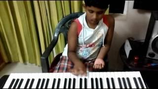 Keyboard solo by AYUSH Malayalam song syamameghame