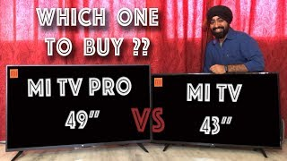"Mi TV 4A PRO 49""  vs  Mi TV 4A 43"" - WHICH ONE TO BUY???"