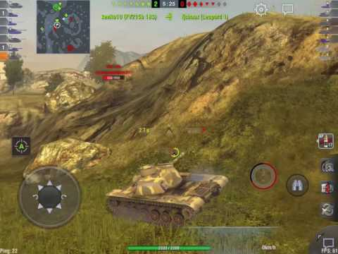 World of Tanks Blitz - T110E5 gameplay
