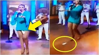 Mexican Singer's Sanitary Pad Falls Down on LIVE TV Show