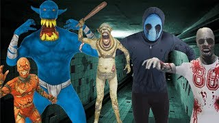 Halloween Horror Show with 42 Morphsuit Haul with Zombies and Orcs