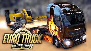 Euro Truck Simulator 2 - PRIMEIRA VIAGEM de CAMINHÃO!! C/ Volante + Facecam