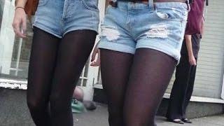 Nylon pantyhose compilation 166