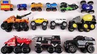 Monster Vehicles for Children | Learning Vehicles for Kids | Monster Truck, Monster School Bus, Kids