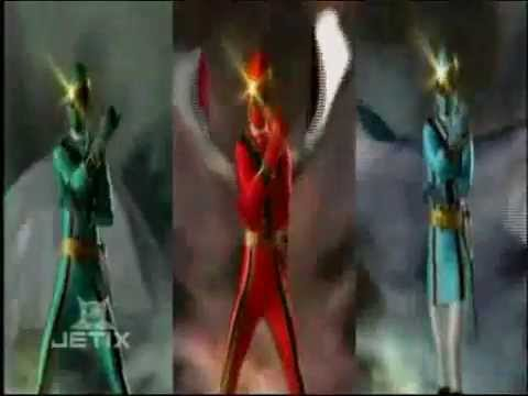 Power Rangers Mystic Force - Red. Green. and Blue Rangers Morph
