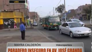 Paradero Inseguro En Av. Jos Granda