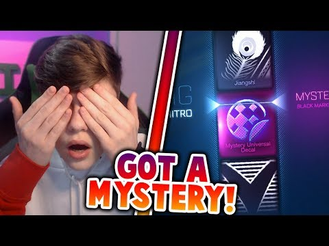 A MYSTERY IN A NO LOOK CRATE! | I GOT A MYSTERY DECAL | Rocket League Crate Opening