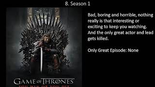 All 8 Game of Thrones Seasons Ranked (Worst to Bad)