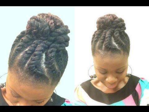 Natural Hair Jumbo Two Strand Flat Twist with Marley hair