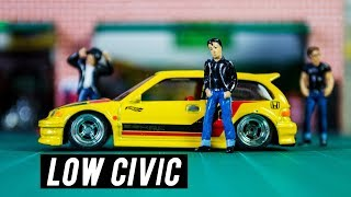 Lowered Hot Wheels Honda Civic - JDM Fest | Episode 5