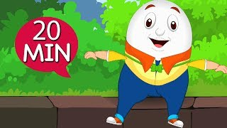 Humpty Dumpty Sat On A Wall | And Many More Animated Nursery Rhymes For Children |  Kids Songs