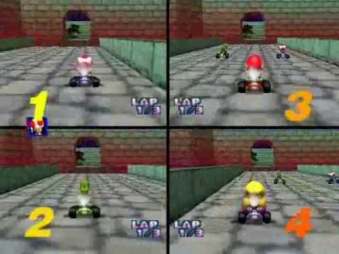 Mario Kart 64: 4-CPU, All Cup