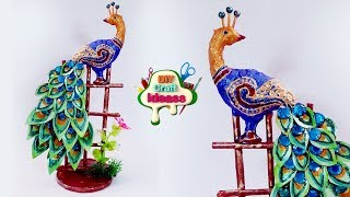 How to Make a Peacock from Newspaper Crafts | Peacock diy | Diy craft ideas