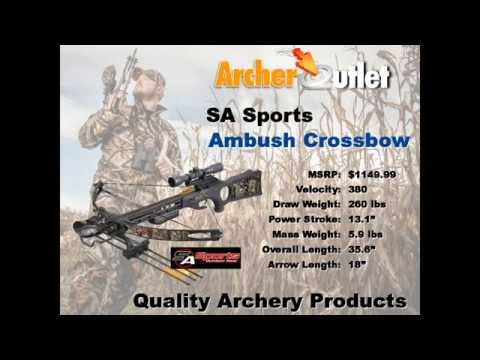 SA Sports Ambush Crossbow Review   Archer Outlet