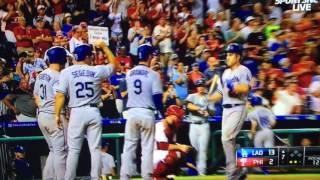 Chase Utley Grand Slam Vs Phillies Dodgers