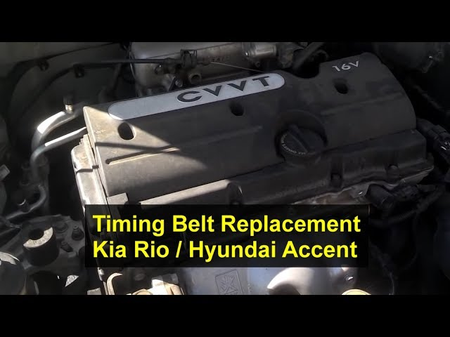 Kia Rio Timing Belt Replacement, 1.6L, I4, 16 Valve - Auto ...