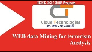 WEB data Mining for terrorism Analysis | Cloud Technologies | IEEE Projects Hyderabad | Ameerpet