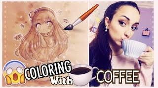 😨 CHALLENGE || COLORING WITH COFFEE ?? ☕️