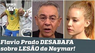 """A lesão de Neymar foi uma FARSA? Flavio Prado DESABAFA: """"IDIOTAS!"""""""