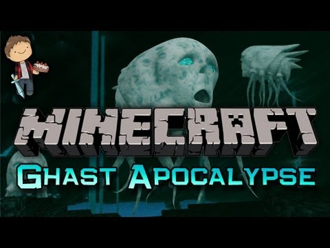 Minecraft: Ghast Apocalypse Mini-Game w/Mitch & Friends Part 2 of 2 - Noble Steed!