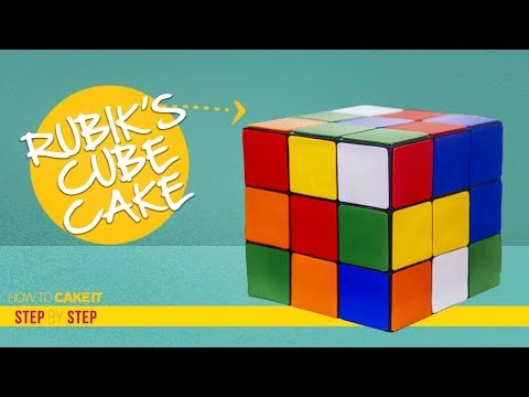 How To Make A RUBIK'S CUBE with CAKE | FONDANT Step By Step | How To Cake It | Yolanda Gampp