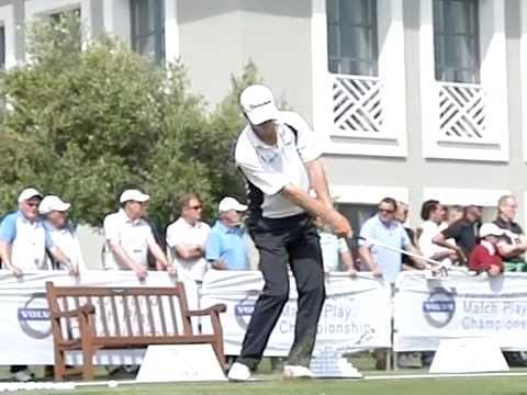 John Senden Golf Swing - Iron, Slow Motion, Volvo World Matchplay, Face On