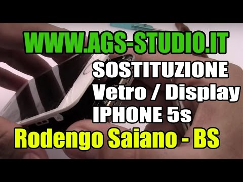 Sostituzione lcd iphone 5s come smontare iphone 5s disassembly lcd glass digitizer replacement