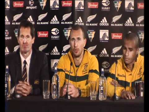 Wallaby press conference post Bledisloe Cup - Wallabies discuss where they went wrong in 2011 Bledis