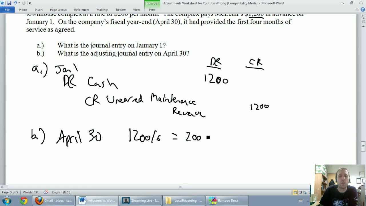 Accounting - Unit 3 - Part 5: Unearned Revenues - YouTube