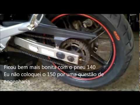 Nova Fazer com Pneu mais largo CST Magsport 140/70 R17