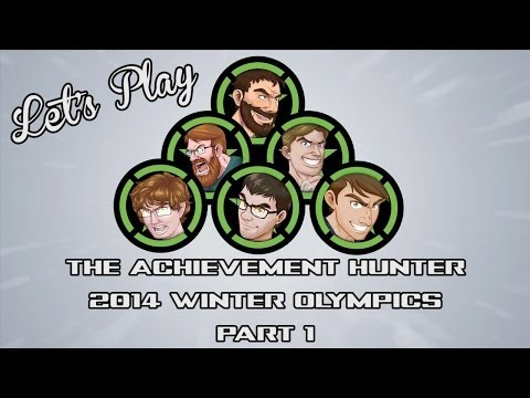 Let's Play - The Achievement Hunter 2014 Winter Olympics Part 1