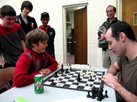 IM Greg Shahade vs 10 year old chess master
